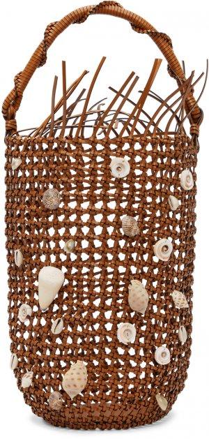 Tan Mesh Bolso Bucket Bag Loewe. Цвет: 2530 tan
