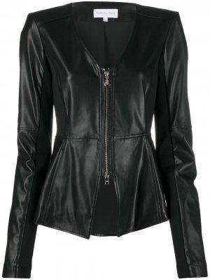 Куртка из искусственной кожи Patrizia Pepe. Цвет: черный