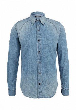 Рубашка Denham DE787EMKN154. Цвет: голубой