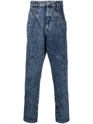 Зауженные джинсы из вареного денима Isabel Marant. Цвет: синий