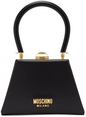 Black Mini Frame Top Handle Bag Moschino. Цвет: a0555 black