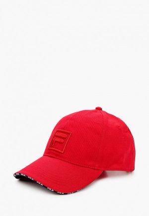 Бейсболка Fila. Цвет: красный