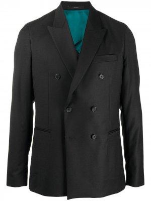 Двубортный пиджак PAUL SMITH. Цвет: черный