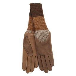 Перчатки CECILIA/AGNSUED/W серовато-коричневый AGNELLE