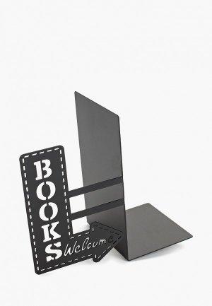 Держатель для книг Balvi BookShop. Цвет: черный