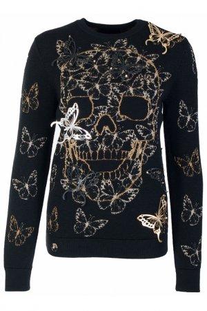 Пуловер Philipp Plein. Цвет: черный