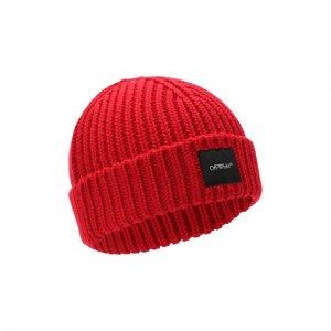 Шерстяная шапка Off-White. Цвет: красный