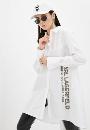 Туника Karl Lagerfeld. Цвет: белый