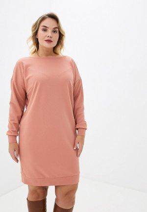 Платье Lacy. Цвет: коралловый