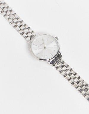 Серебристые часы цвета с браслетом из звеньев -Серебристый Bellfield