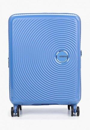Чемодан American Tourister Cabin size. Цвет: голубой