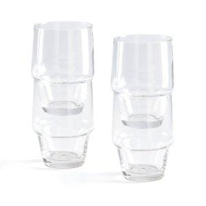 Комплект из 4 бокалов, Moly LaRedoute. Цвет: серый