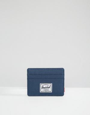 Темно-синяя визитница Charlie Herschel Supply Co. Цвет: темно-синий