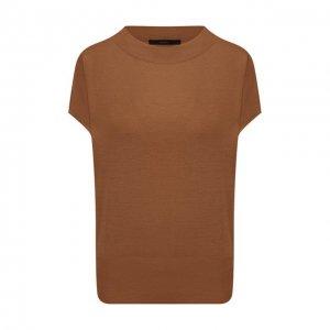 Шелковый топ Windsor. Цвет: коричневый