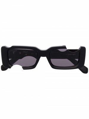 Солнцезащитные очки Cady в прямоугольной оправе Off-White. Цвет: черный