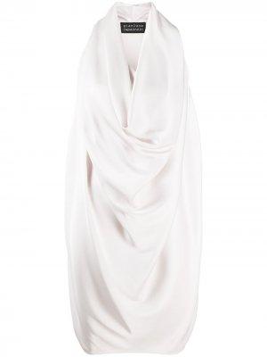 Платье с драпировкой и воротником-хомутом Gianluca Capannolo. Цвет: нейтральные цвета