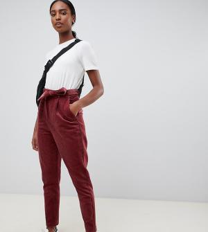 Суженные книзу вельветовые брюки с поясом ASOS DESIGN Tall