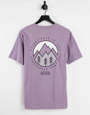 Фиолетовая футболка Tillamook-Фиолетовый цвет Columbia