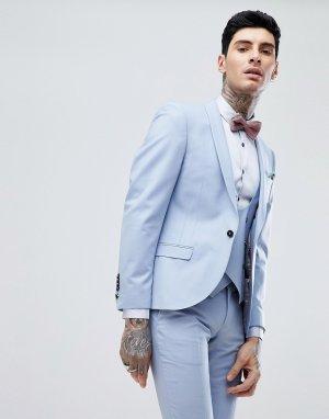 Голубой суперузкий пиджак Wedding-Синий Noose & Monkey