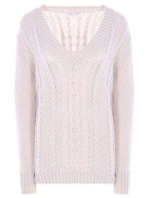 Пуловер из кашемира AGNONA. Цвет: разноцветный