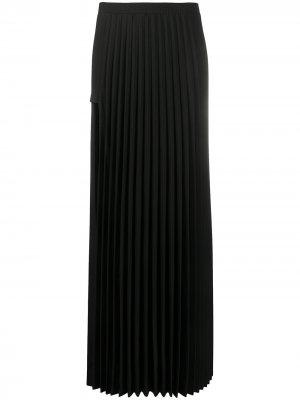 Длинная юбка со складками Vetements. Цвет: черный