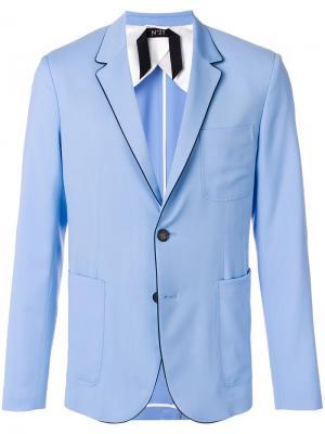 Однобортный блейзер Nº21. Цвет: синий