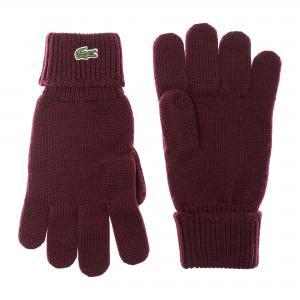 Перчатки Lacoste. Цвет: бордовый
