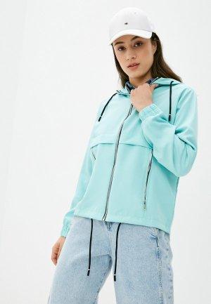 Куртка Adrixx. Цвет: голубой