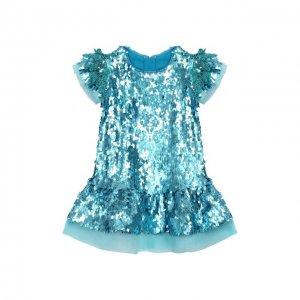 Платье Yudashkin Kids. Цвет: синий