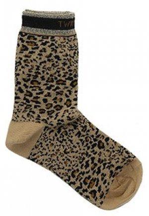 Носки TWINSET. Цвет: коричневый