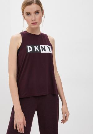 Майка DKNY. Цвет: бордовый