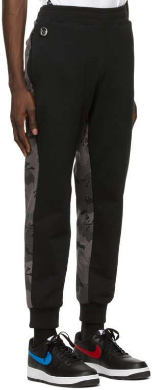 Black Camo Lounge Pants AAPE by A Bathing Ape. Цвет: bkx - blk