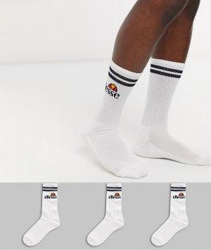 Набор из 3 пар мужских белых спортивных носков Ellesse-Белый ellesse