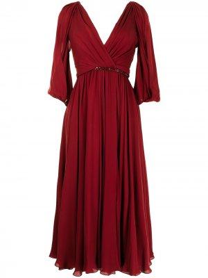 Платье миди Road Jenny Packham. Цвет: красный