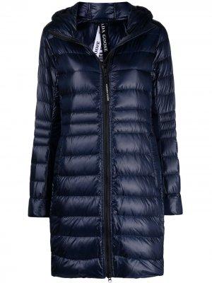 Пальто Cyprus с капюшоном Canada Goose. Цвет: синий