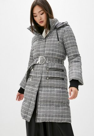 Куртка утепленная Patrizia Pepe. Цвет: серый