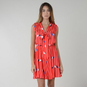 Платье LaRedoute. Цвет: красный