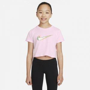 Укороченная футболка для танцев девочек школьного возраста Sportswear - Розовый Nike