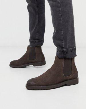 Коричневые кожаные ботинки челси -Коричневый Office