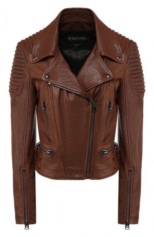 Кожаная куртка Tom Ford. Цвет: коричневый