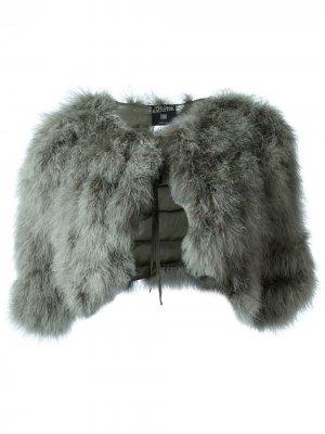 Куртка-накидка из перьев марабу Jean Paul Gaultier Pre-Owned. Цвет: зеленый