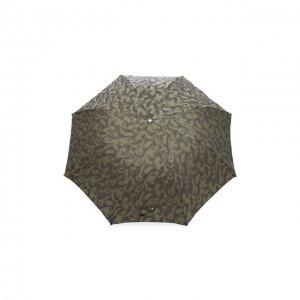Складной зонт Pasotti Ombrelli. Цвет: хаки