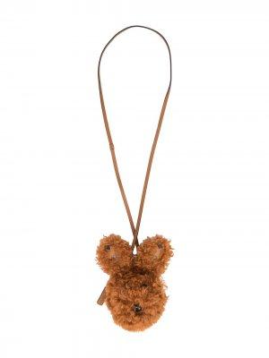 Футляр Rabbit для AirPods со шнурком на шею MCM. Цвет: коричневый