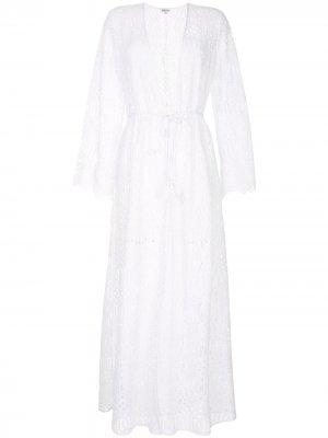 Пляжное платье с длинными рукавами Paolita. Цвет: белый