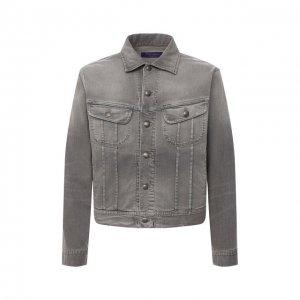 Джинсовая куртка Ralph Lauren. Цвет: серый