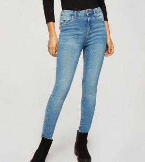 Выбеленные голубые джинсы зауженного кроя Emily-Голубой Miss Selfridge Petite