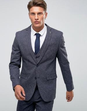 Темно-синий пиджак скинни в крапинку Farah Wedding Smart