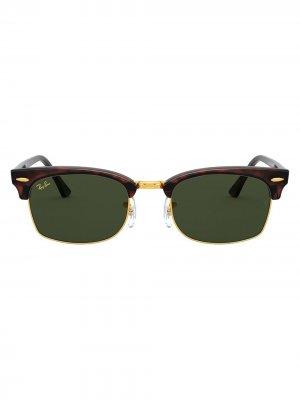 Солнцезащитные очки Clubmaster в квадратной оправе Ray-Ban. Цвет: черный
