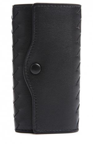 Кожаный футляр для ключей Bottega Veneta. Цвет: чёрный