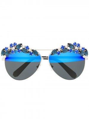 Солнцезащитные очки Sunshine Philipp Plein. Цвет: синий